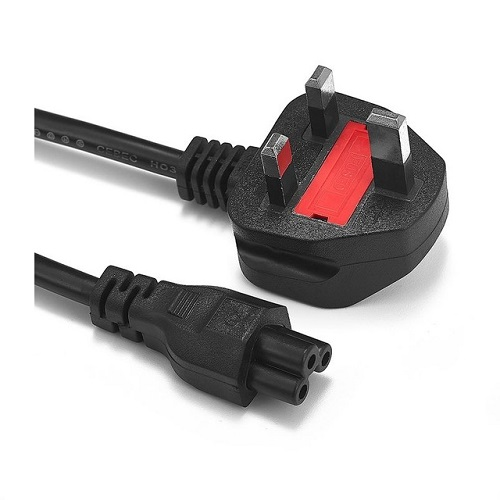 EU (3 Prong Clover Leaf ) Laptop Power Lead Cord